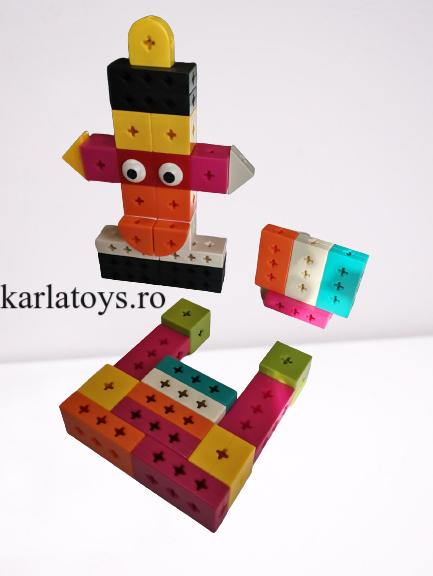 Set Joc de construit Animale Traffic Dinosaur Blocks 5
