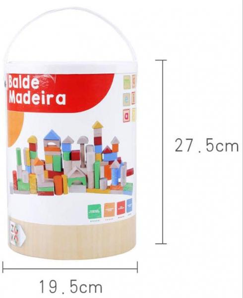 Set cuburi colorate din lemn  100 de piese 3