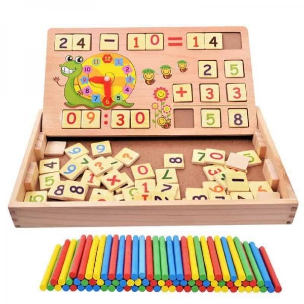 Set educational din lemn matematica 3 in 1 2