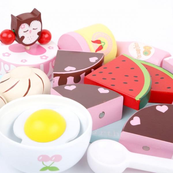 Set Mic dejun din lemn pentru copii Breakfast 18 piese 3