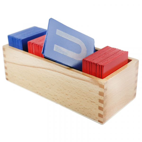 Set din Lemn Carduri Litere Montessori [2]