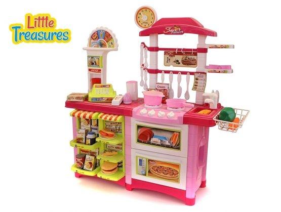 Fast Food bucatarie de jucarie - Bucatarie copii Mare cu accesorii 2