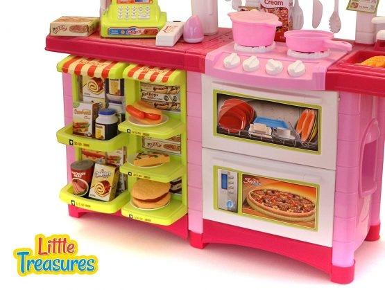 Fast Food bucatarie de jucarie - Bucatarie copii Mare cu accesorii 3
