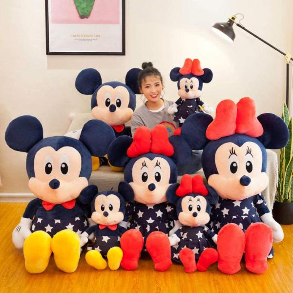 Set2 jucari de plus Mickey si Minnie Mouse Albastru 0
