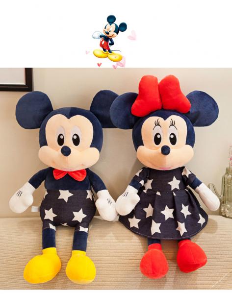 Set2 jucari de plus Mickey si Minnie Mouse Albastru 1
