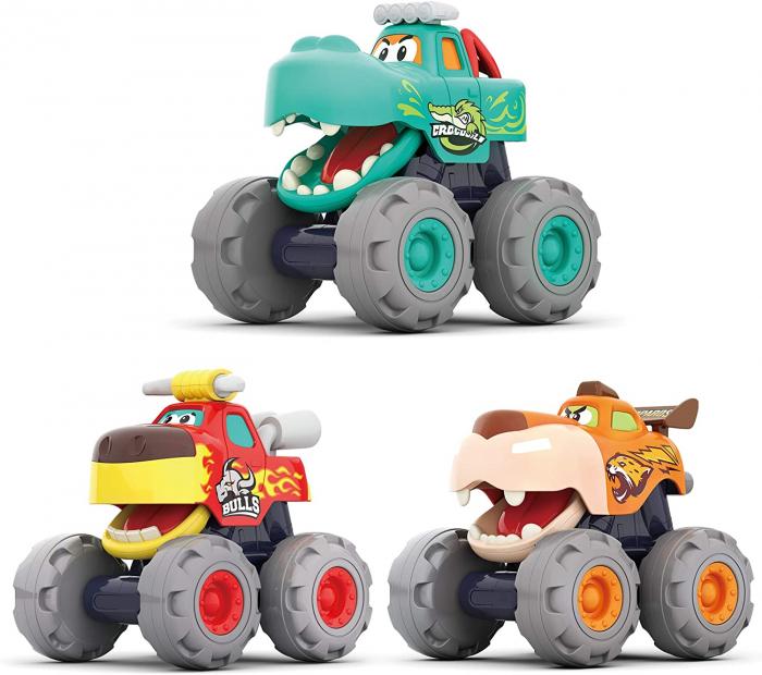Set Jucarii Bebe Masinute Camioane Monster Trucks Hola Toys [0]