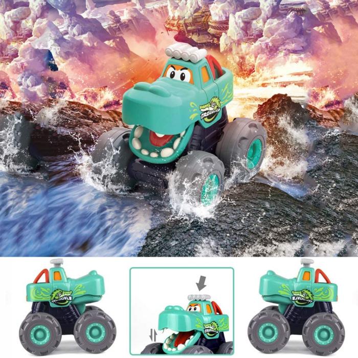 Set Jucarii Bebe Masinute Camioane Monster Trucks Hola Toys [3]