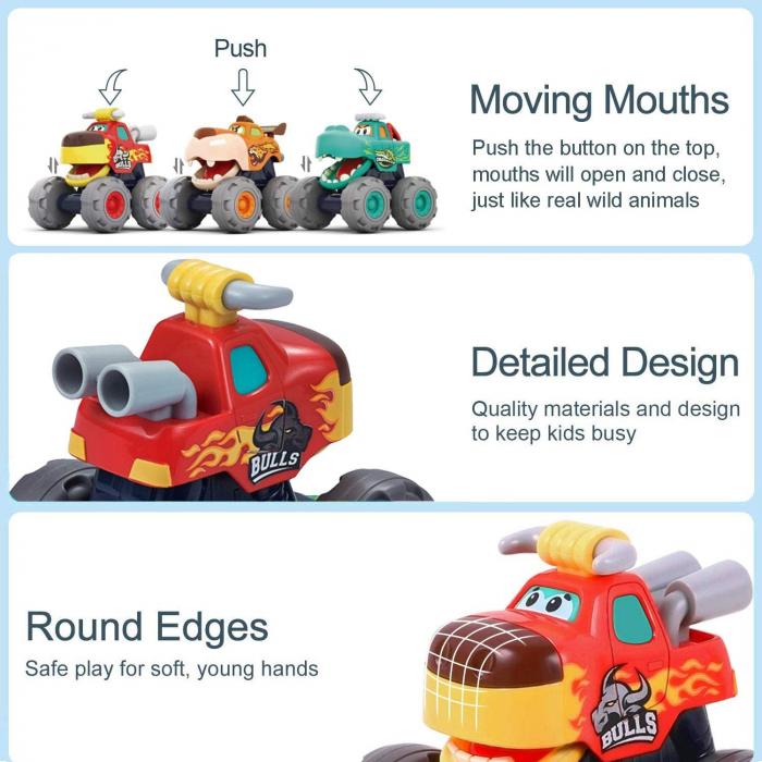 Set Jucarii Bebe Masinute Camioane Monster Trucks Hola Toys [8]