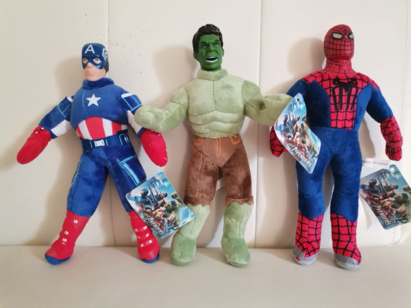 Set jucarii plus Hulk Captain America Spiderman 3 bucati 0