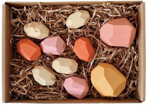 Set Montessori Creativ Pietre colorate - Set Creativ cu Forme in Echilibru 3