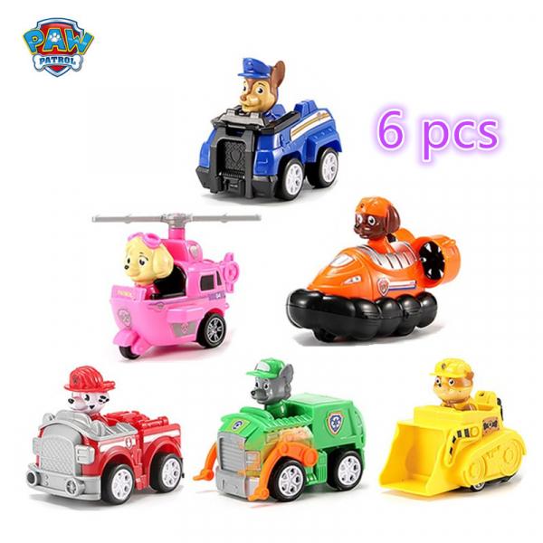 Set Patrula Catelusilor  figurine cu masinute 3