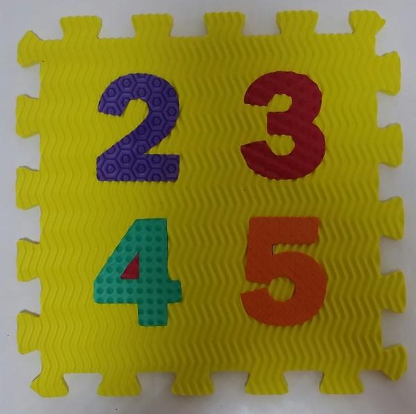 Set puzzel 10 piese cifre si litere - Covoras puzzle Litere si Cifre 10
