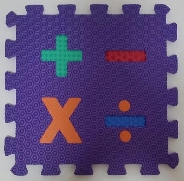 Set puzzel 10 piese cifre si litere - Covoras puzzle Litere si Cifre 8