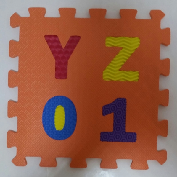 Set puzzel 10 piese cifre si litere - Covoras puzzle Litere si Cifre 9