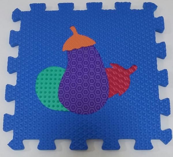 Set puzzel 10 piese cu fructe si legume - Covoras puzzle fructe si legume 8