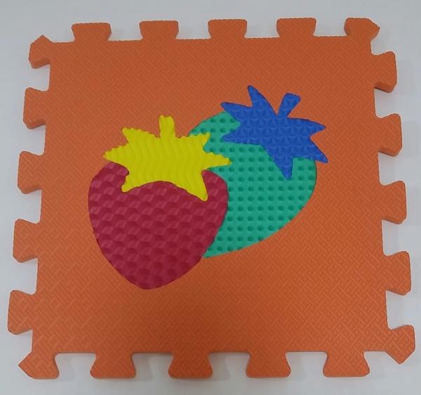 Set puzzel 10 piese cu fructe si legume - Covoras puzzle fructe si legume 6