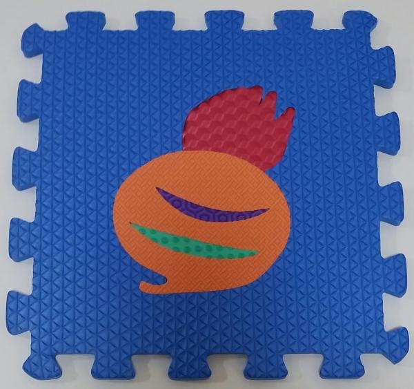 Set puzzel 10 piese cu fructe si legume - Covoras puzzle fructe si legume 5