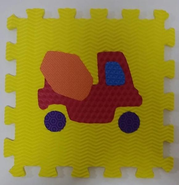 Set puzzel 10 piese cu vehicole - Covoras puzzle vehicole 3