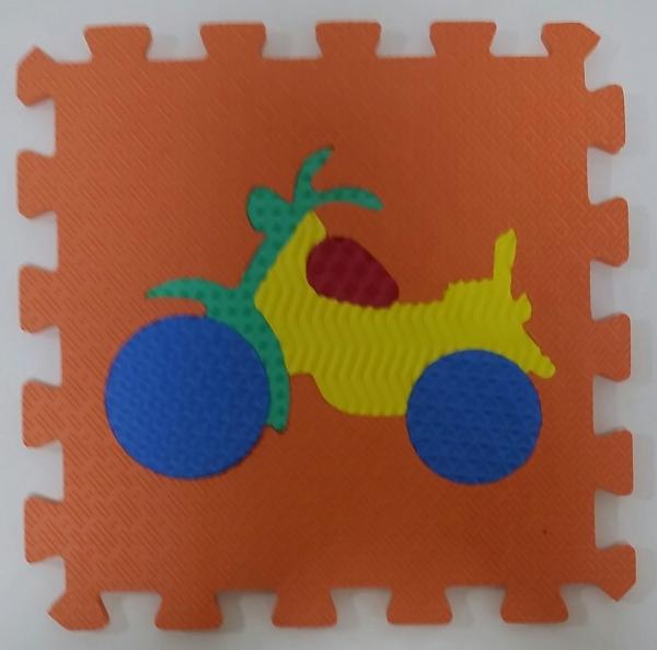 Set puzzel 10 piese cu vehicole - Covoras puzzle vehicole 8