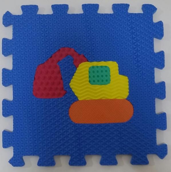 Set puzzel 10 piese cu vehicole - Covoras puzzle vehicole 9