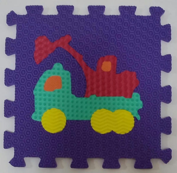 Set puzzel 10 piese cu vehicole - Covoras puzzle vehicole 6