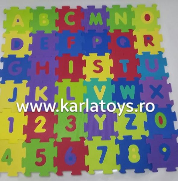 Set covoras puzzle cu cifre si litere 36 de bucati [2]
