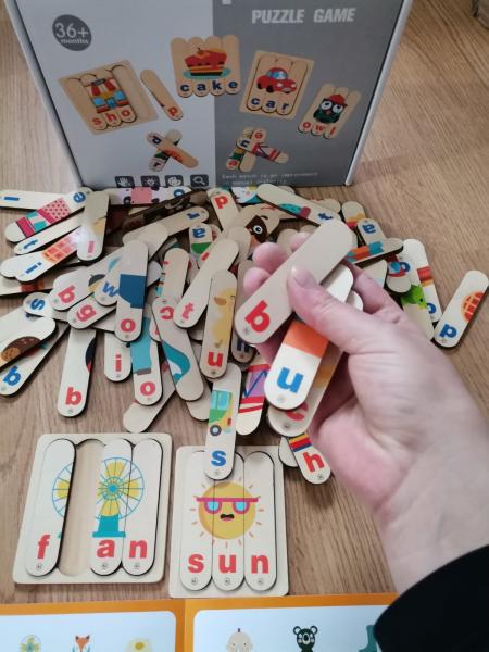 Set Puzzle betisoare creative cuvinte in engleza si imagini 12
