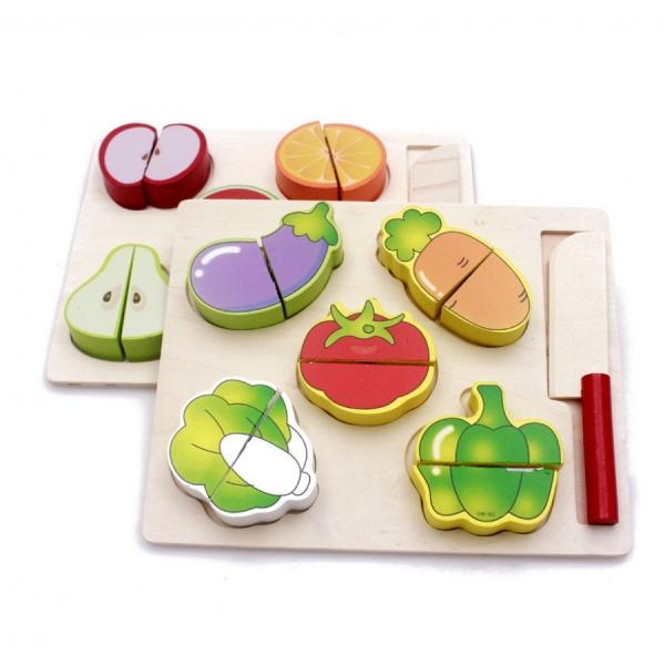 Set 2puzzle din Lemn Legume si Fructe [1]