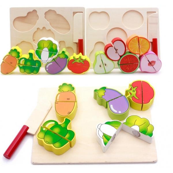 Set 2puzzle din Lemn Legume si Fructe 0