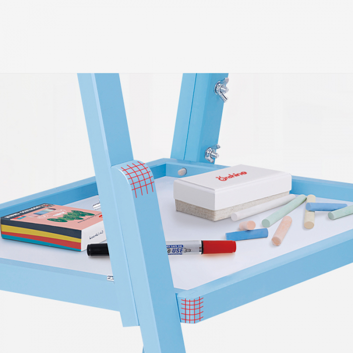 Sevalet copii din lemn Tabla de Desen magnetica cu 2 fete Onshine 4