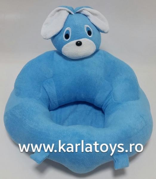 Fotoliu sit up din plus bebe Iepuras albastru 1