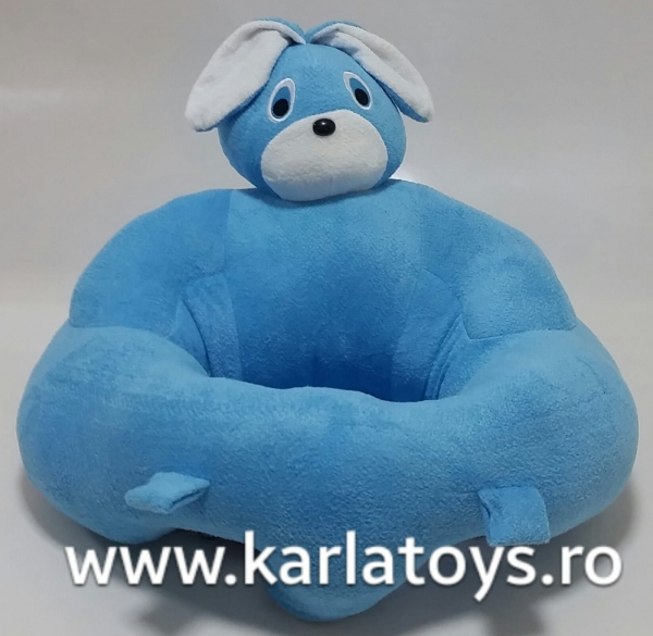 Fotoliu sit up din plus bebe Iepuras albastru 0