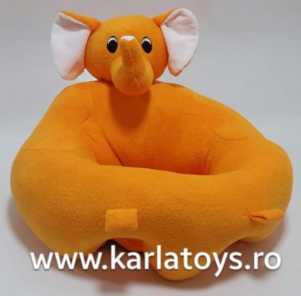 Fotoliu sit up din plus bebe Elefantelul portocaliu 0