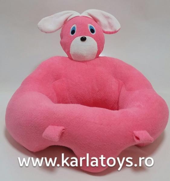 Fotoliu sit up din plus bebe Iepurasul roz 0