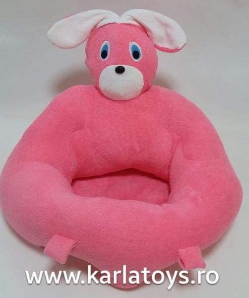Fotoliu sit up din plus bebe Iepurasul roz 1
