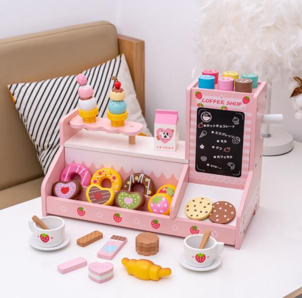 Stand  Lemn Cafenea pentru copii - Mini Magazin deserturi si cafea 12