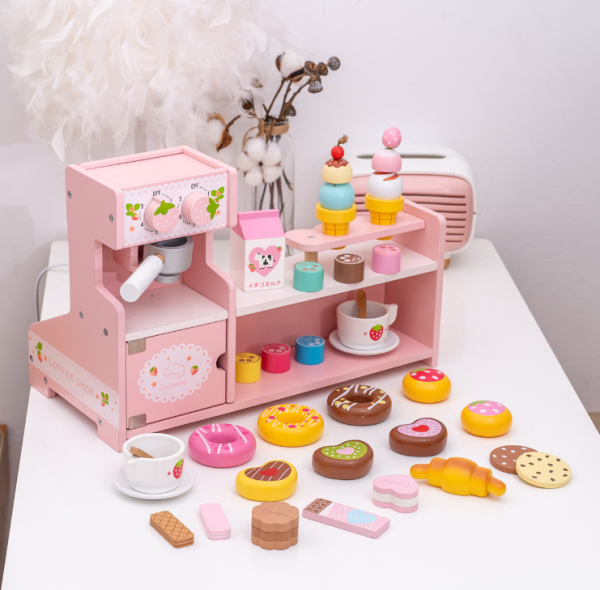 Stand  Lemn Cafenea pentru copii - Mini Magazin deserturi si cafea 9