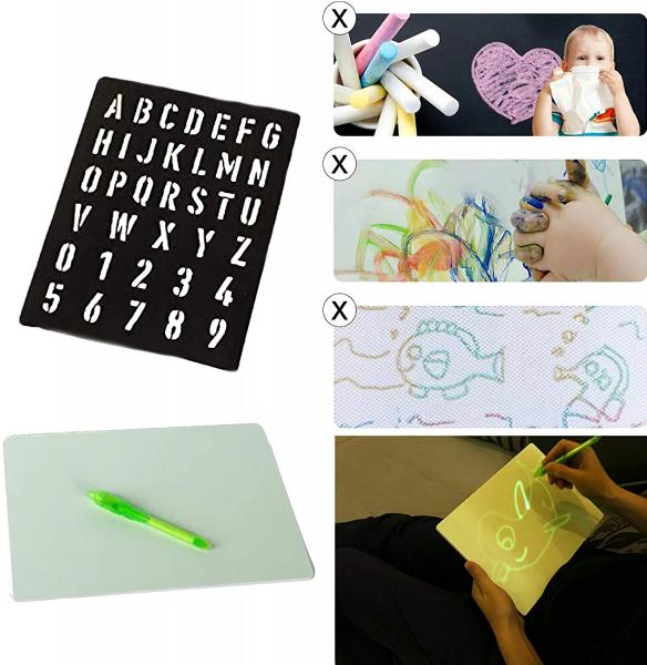 Tabla de Scris cu Lumina Fluorescenta 3D - Tabla de Desen cu Lumina Led 2