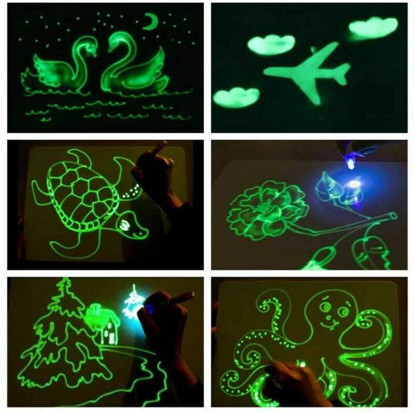 Tabla de Scris cu Lumina Fluorescenta 3D - Tabla de Desen cu Lumina Led 7