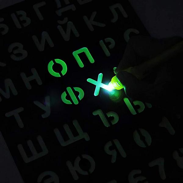 Tabla de Scris cu Lumina Fluorescenta 3D - Tabla de Desen cu Lumina Led 3