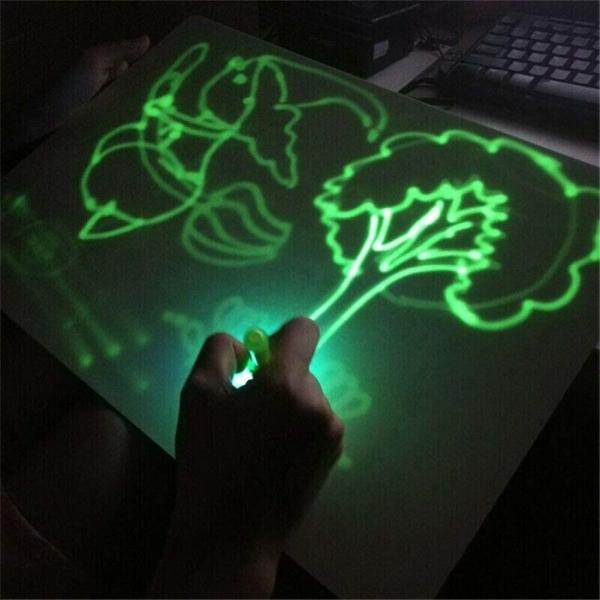 Tabla de Scris cu Lumina Fluorescenta 3D - Tabla de Desen cu Lumina Led 6