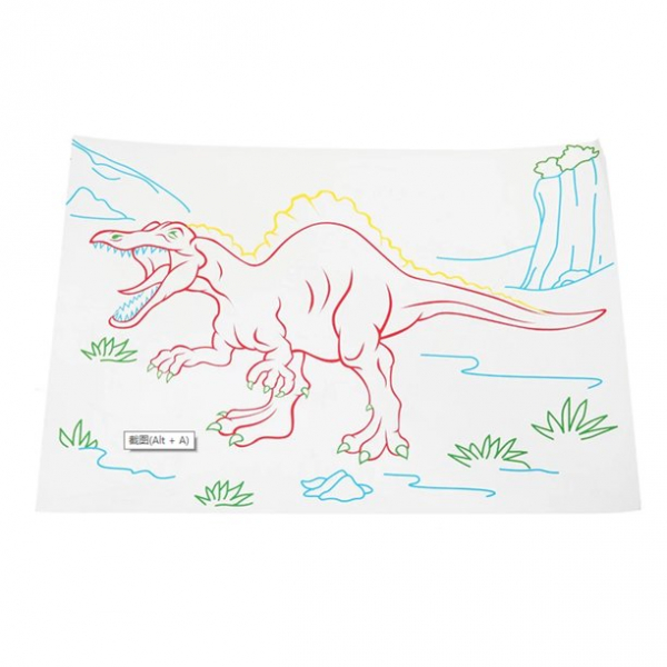 Tabla de desen 3d Magic Drawing Dinozauri cu ochelari 5