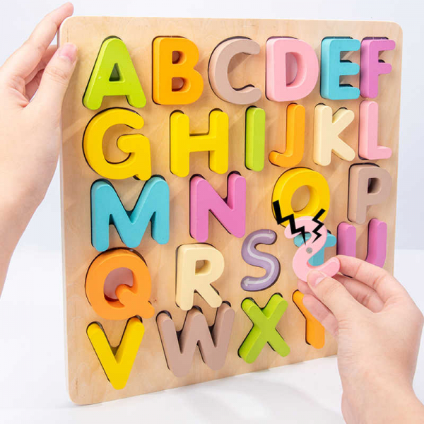 Tabla din lemn Mltifunctionala Alfabet sau Cifre 2 in 1 1