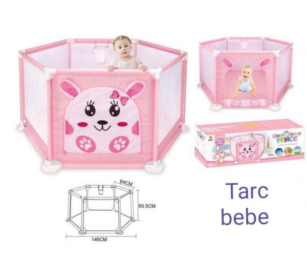 Tarc Copii Mare cu Imprimeu si Cos de Baschet - Tarc bebe Colorat 0