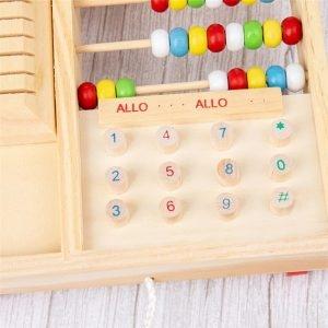 Jucarie lemn Telefon multifunctional cu abac 3