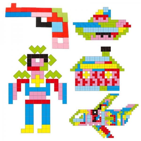 Joc Montessori Tetris din lemn 114 piese 1