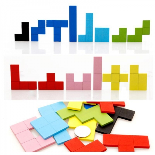 Joc Montessori Tetris din lemn 114 piese 5