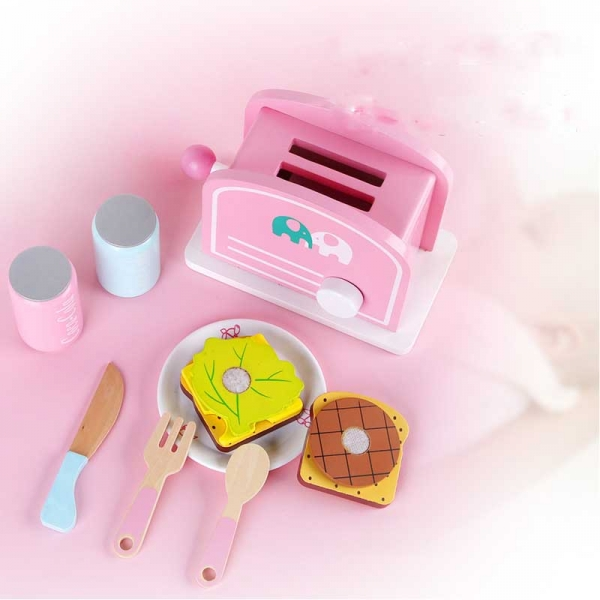 Ustensile din lemn de gatit Mic dejun - Ustensile bucatarie lemn copii 1