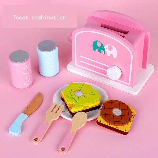 Ustensile din lemn de gatit Mic dejun - Ustensile bucatarie lemn copii 0