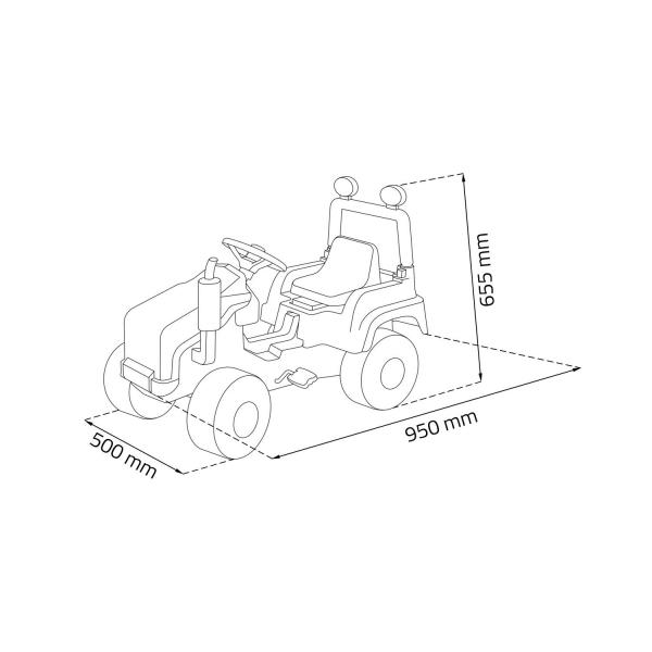 Tractor copii cu pedale 1
